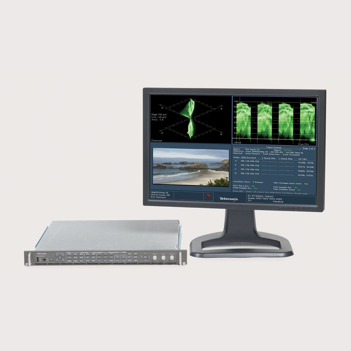 Tektronix WVR-8200 Advanced 3G-SDI Rasterizer with 4K Support