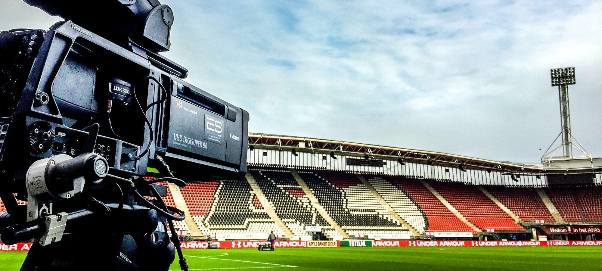 Canon UHD lenses covering the Dutch KNVB Cup quarter-final between AZ Alkmaar and Zwolle