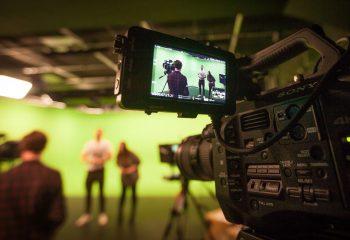 The green screen studio at Gamesys' TV studio complex