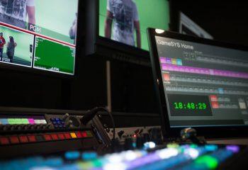 Broadcast equipment at Gamesys' TV studio