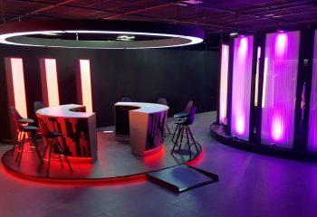 Gaming tables at Gamesys' TV studio