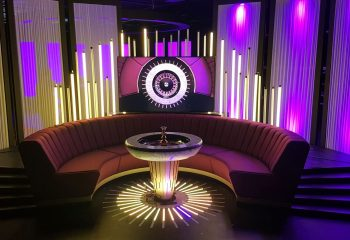 The roulette wheel is one of the focal points of Gamesys' TV studio
