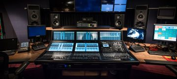 The Hospital Club Studios' new music control room, installed by ES Broadcast