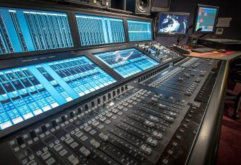 H Studio's TV studio underwent an audio upgrade, including a new SSL System T console