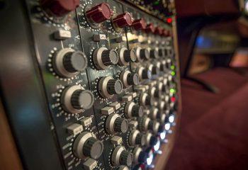 Equipment racks in H Studio's newly upgraded audio room
