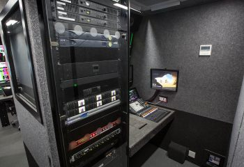 Audio area, RaceTech 14-camera HD OB trucks