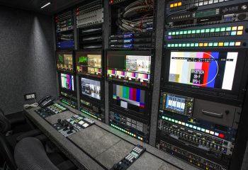 Engineering area, RaceTech 14-camera HD OB trucks