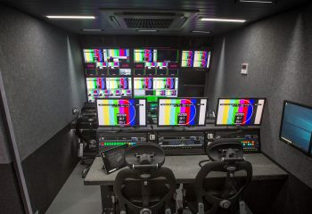 EVS positions and production gallery, RaceTech 14-camera HD OB trucks