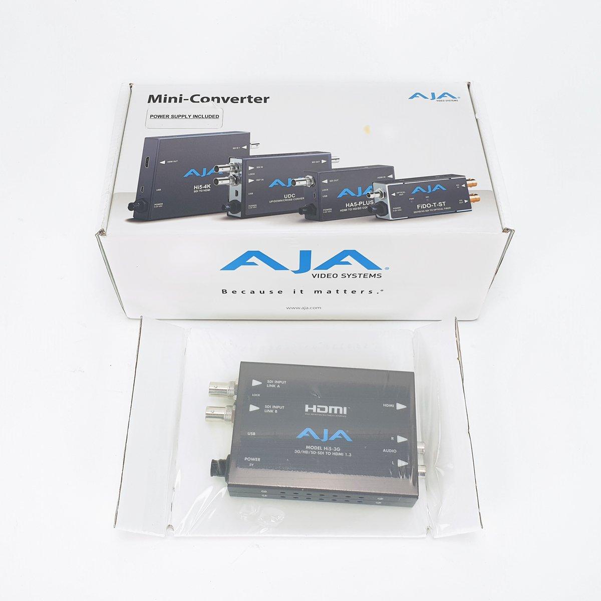 Ex-Demo AJA Hi5-3G 3G-SDI to HDMI converter
