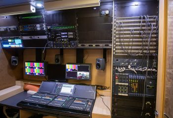 Reference 834 | 12-Camera Double Expander HD 3G OB Truck | Audio area