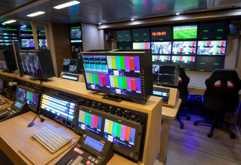 Reference 834 | 12-Camera Double Expander HD 3G OB Truck | EVS area