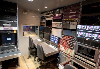 ES Broadcast Ref 835 | 12 Camera Single Expander HD OB Truck | Engineering area