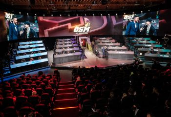Studio and stage at OGN's esports studio, built by ES Broadcast