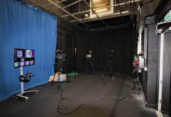 The UHD TV studio space at the BRIT School