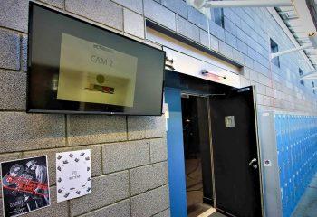 The outside monitor for the BRIT School's UHD TV studio