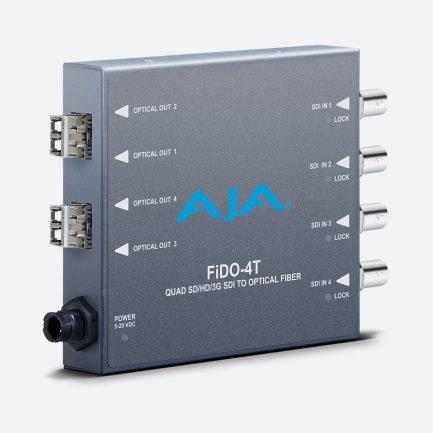 AJA FiDO-4T 4-Channel 3G-SDI to Single-Mode LC Fiber Transmitter